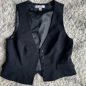 NWOT Caslon Black Button Up Vest
